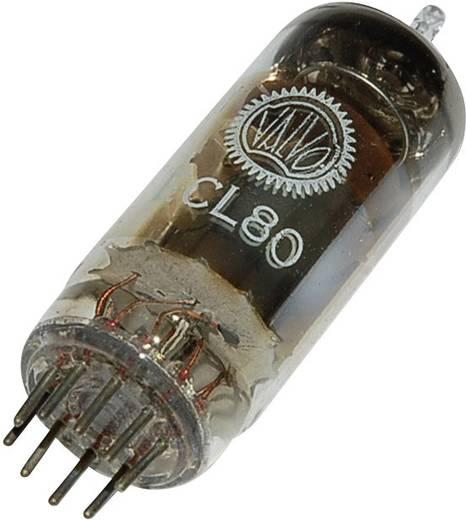 Elektronenröhre ECL 80 Triode-Pentode 100 V, 20 V 8 mA, 2 mA Polzahl: 9 Sockel: Noval Inhalt 1 St.