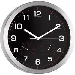 Quartz nástenné hodiny Mebus 41882, vonkajší Ø 30 cm, hliník