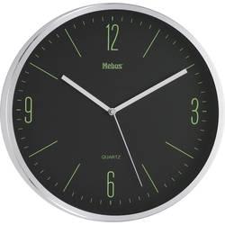 Quartz nástenné hodiny Mebus 16318, vonkajší Ø 30 cm, strieborná