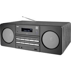 DAB+ CD rádio Dual DAB 410, AUX, CD, DAB+, FM, USB, černá
