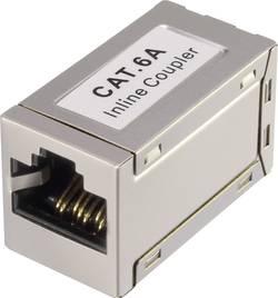 Síťový adaptér RJ45 Renkforce RF-4723812 CAT 6A, [1x RJ45 zásvuka - 1x RJ45 zásvuka], bílá
