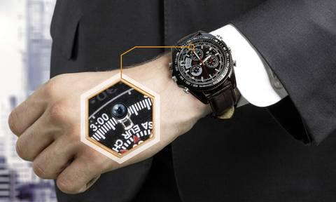 Überwachungskamera in der Armbanduhr