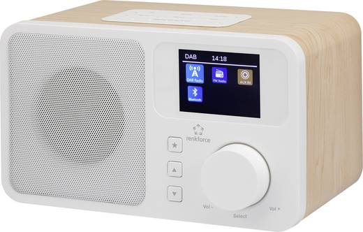 DAB+ Tischradio Renkforce RF-DAB-RETRO1 DAB+, UKW, Bluetooth® Holz