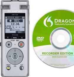 Image of Olympus DM-720 + Dragon Naturally Speaking 12 Digitales Diktiergerät Aufzeichnungsdauer (max.) 985 h Silber inkl.