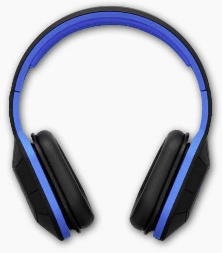 Studio Kopfhörer SOUL Combat+ Over Ear Noise Cancelling Schwarz, Blau