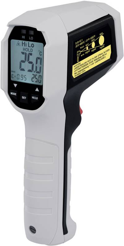 IR thermometer VOLTCRAFT IRF 650-12DIP Display (thermometer) 12:1 -35 up to 650 °C Pyrometer Calibrated to: Manufacturer