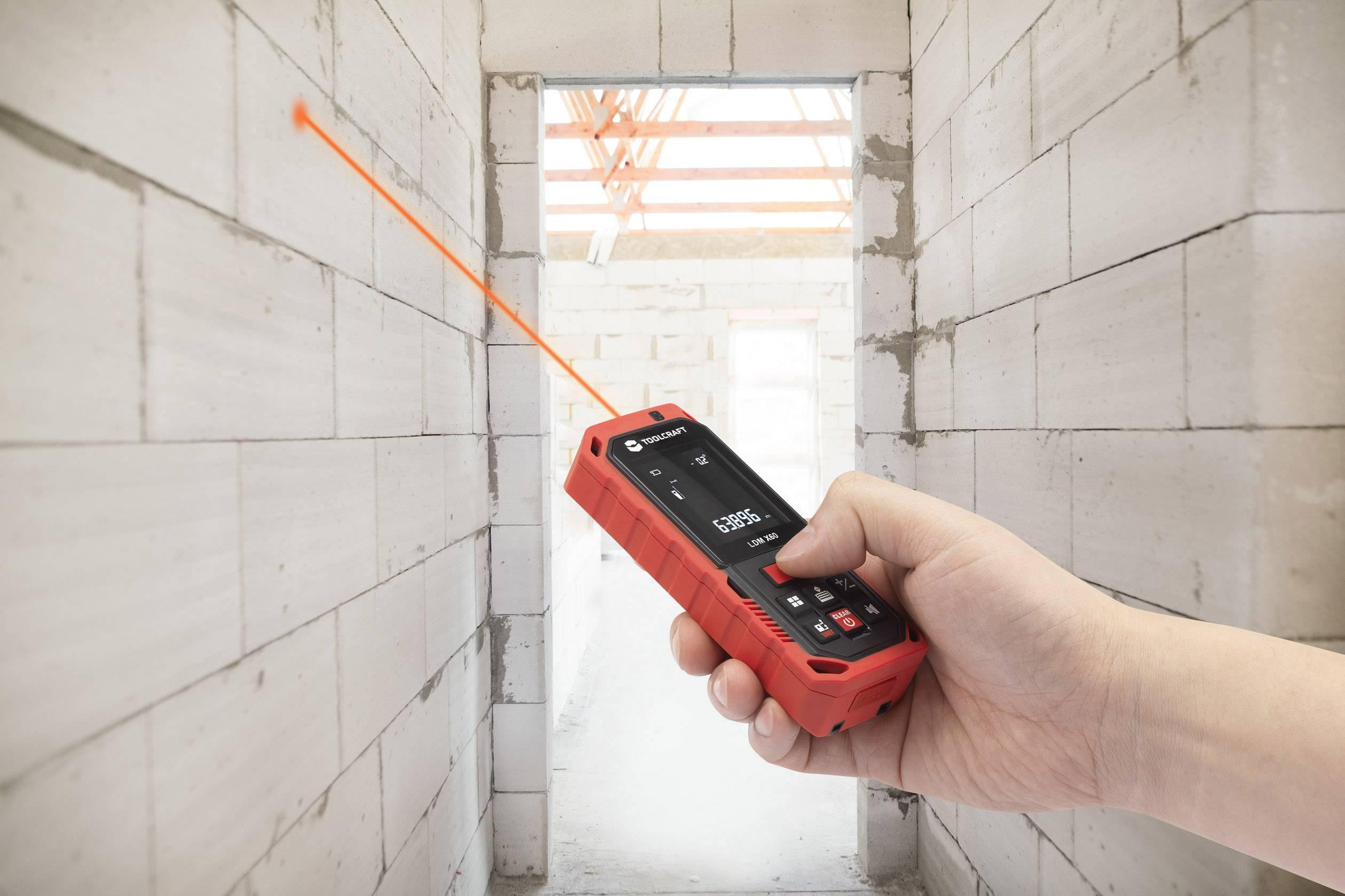 Laser Entfernungsmesser Neigungsmessung : Toolcraft to lmd laser entfernungsmesser messbereich max