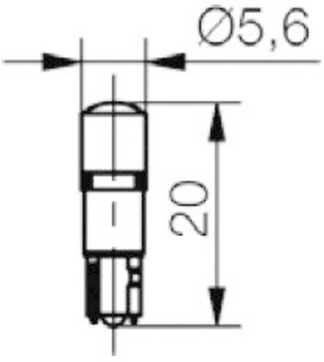 LED-Lampe W2x4.6d Blau 12 V/DC, 12 V/AC 200 mcd Signal Construct MWTW4642