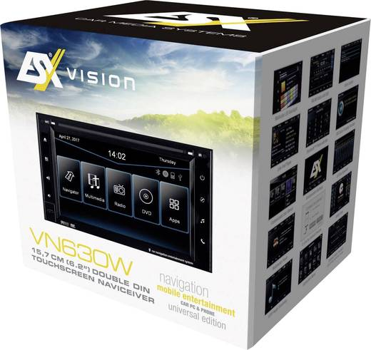 esx vn630w navigationsger t festeinbau europa bluetooth. Black Bedroom Furniture Sets. Home Design Ideas