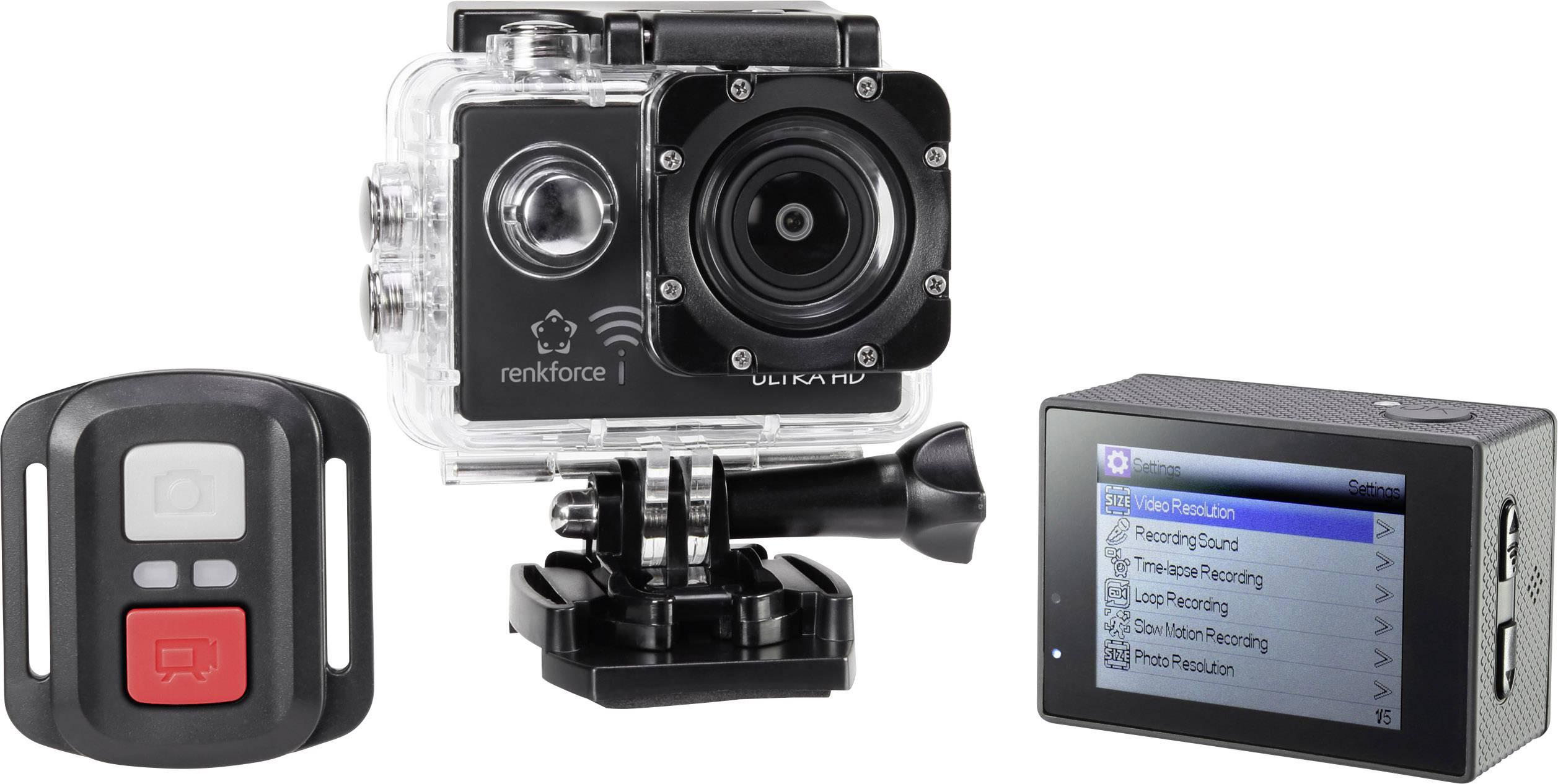 Renkforce RF AC4K 300 Action Cam 4K, WLAN, Wasserfest, Staubgeschützt, Webcam
