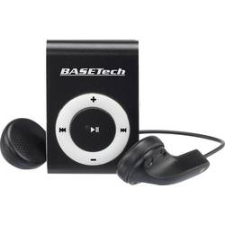 MP3 prehrávač Basetech BT-MP-100, upevňovací klip, čierna, biela