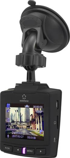 Dashcam mit GPS Renkforce RF-DC-1G Blickwinkel horizontal max.: 152 ° 12 V, 5 V/DC Display, Akku, Mikrofon