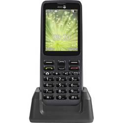 Doro 5516 telefón pre seniorov nabíjacej stanice, tlačidlo SOS grafit