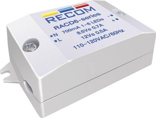 LED-Konstantstromquelle 6 W 700 mA 8.4 V/DC Recom Lighting RACD06-700 Betriebsspannung max.: 264 V/AC