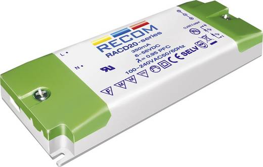LED-Treiber Konstantstrom Recom Lighting RACD20-1050 20 W 1.05 A 5 - 17 V/DC nicht dimmbar, PFC-Schaltkreis, Überlastsch