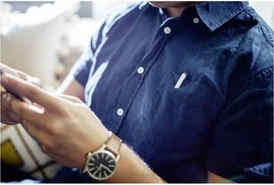 Penna per touchscreen Adonit Mini 3 Argento