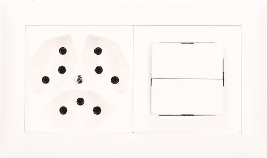 edizio by feller einsatz schalter steckdosen kombination ediziodue wei 114262. Black Bedroom Furniture Sets. Home Design Ideas