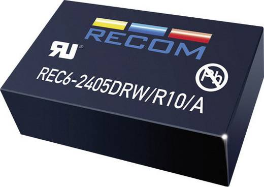 RECOM REC6-1212DRW/R10/A DC/DC-Wandler, Print 12 V/DC 12 V/DC, -12 V/DC 250 mA 6 W Anzahl Ausgänge: 2 x