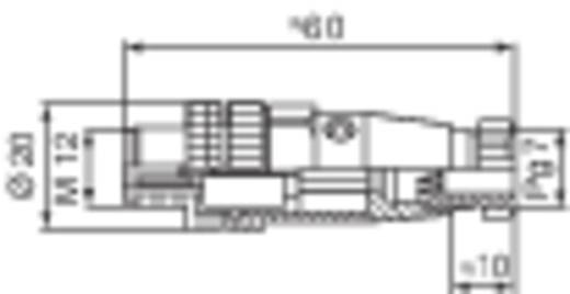 Leitungsdose und -stecker, konfektionierbar M12 ELST 4012 PG7 Hirschmann Inhalt: 1 St.