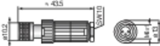 Konfektionierbarer M8-Steckverbinder für die Sensorik (MiniQuick) Schwarz Hirschmann ELKA 3008 V Ausführung (allgemein