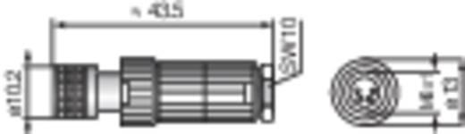 Konfektionierbarer M8-Steckverbinder für die Sensorik (MiniQuick) Schwarz Hirschmann ELKA 4008 V Ausführung (allgemein