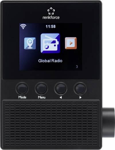 Renkforce RF-IR-PSOCKET1 Internet Steckdosenradio Internetradio Schwarz