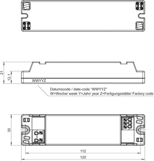LED-Trafo, LED-Treiber Konstantspannung, Konstantstrom LT10-16/700 0.7 A 1 - 16 V/DC nicht dimmbar, PFC-Schaltkreis, Ü