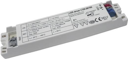 LED-Trafo, LED-Treiber Konstantspannung, Konstantstrom LT20-28/700 0.7 A 5 - 28 V/DC nicht dimmbar, PFC-Schaltkreis, Ü