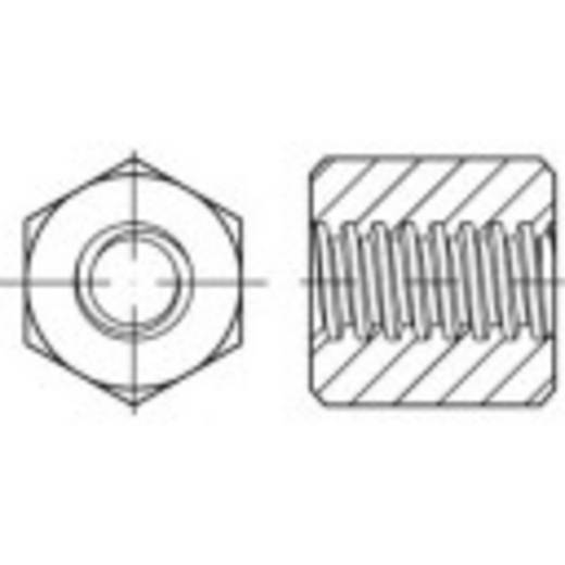 Sechskant Trapezmuttern 30 mm Stahl 1 St. TOOLCRAFT 158215