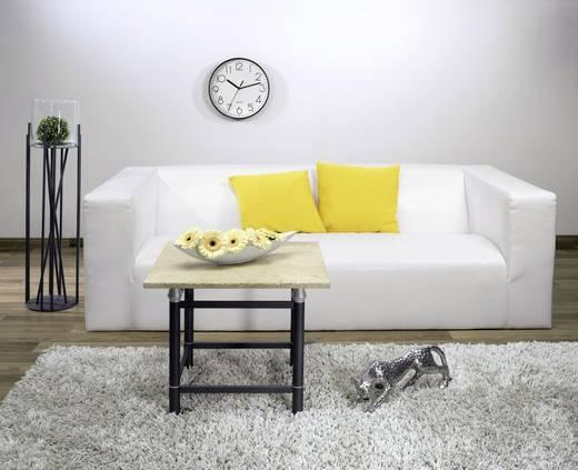 quarz wanduhr hama 00123165 220 mm x 35 mm schwarz schleichendes uhrwerk lautlos kaufen. Black Bedroom Furniture Sets. Home Design Ideas