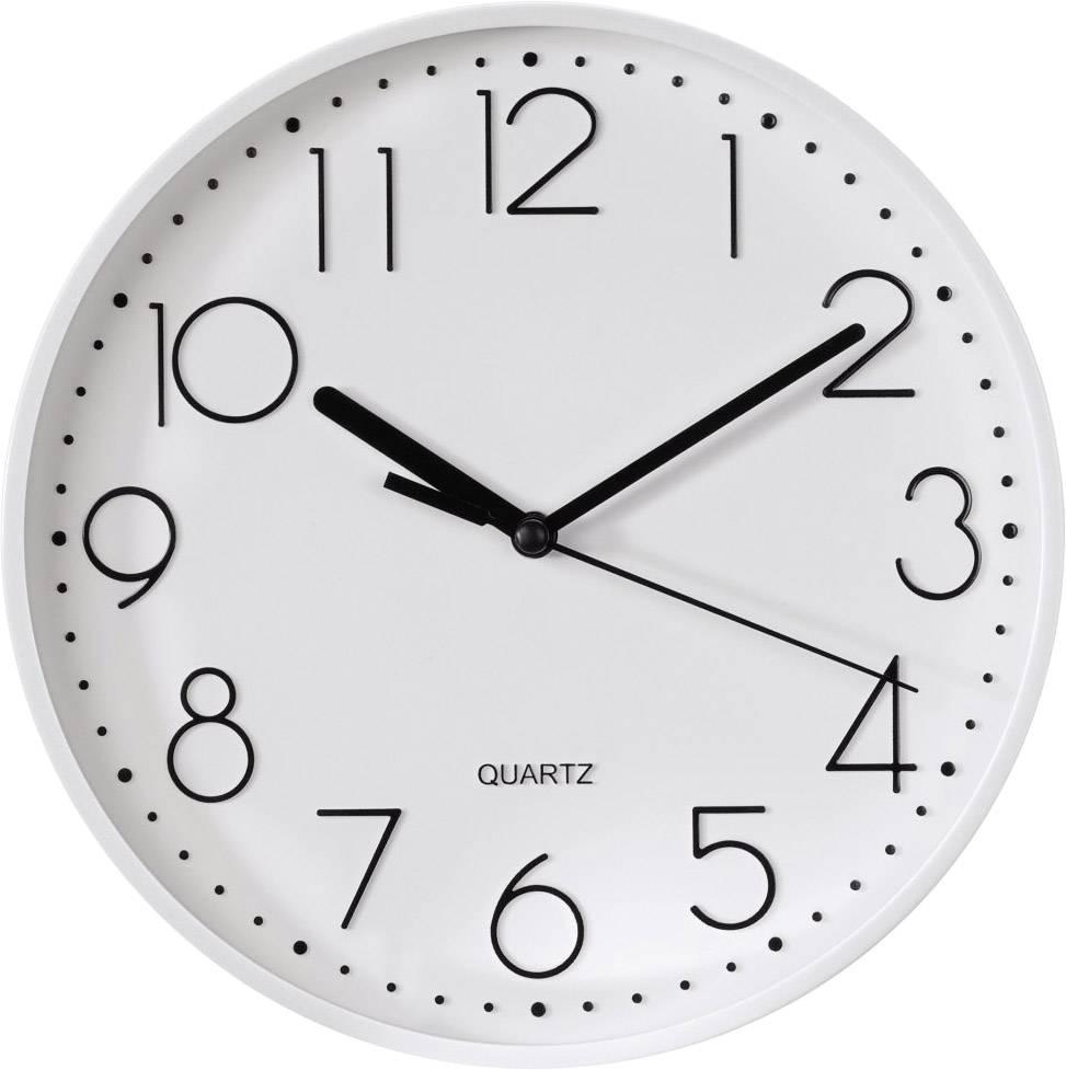 Quarz Wanduhr Hama 00123166 220 Mm X 35 Mm Weiß Schleichendes Uhrwerk  (lautlos)
