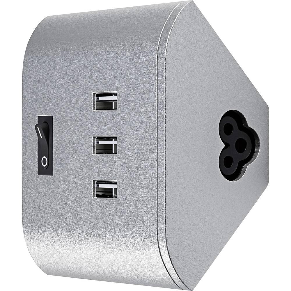 USB-Sockel mit 3 USB-Anschlüssen, mit Schalter OSRAM LinearLED ...