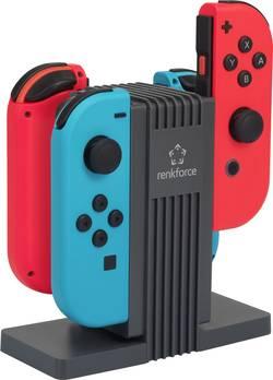 Nabíječka pro ovladače Joy Con ke konzole Nintendo® Switch, Renkforce RL-LSN-400