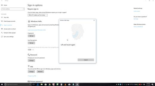 "USB-Fingerabdruck-Leser Renkforce ""Windows Hello"""