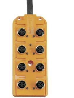 Konektorová lišta Lumberg Automation, ASB 8/LED 5-4-12, M12, 8 zásuvek
