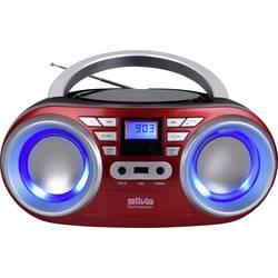 FM rádio s CD prehrávačom Silva Schneider MPC 17.4 USB, UKW, CD, USB, červená