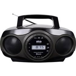FM rádio s CD prehrávačom Silva Schneider MPC 17.7 BT, CD, AUX, Bluetooth, USB, čierna, sivá