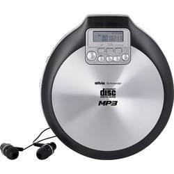 Prenosný CD prehrávač - diskman Silva Schneider MCD 50, CD, CD-R, CD-RW, MP3, čierna
