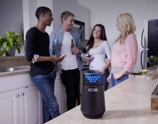 Bluetooth® Lautsprecher 808 Audio Hex light AUX, Freisprechfunktion Schwarz