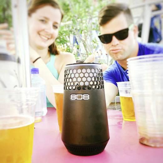 808 Audio Hex light Bluetooth® Lautsprecher AUX, Freisprechfunktion Schwarz