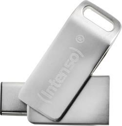 Mémoire supplémentaire USB pour smartphone/tablette Intenso cMobile Line argent