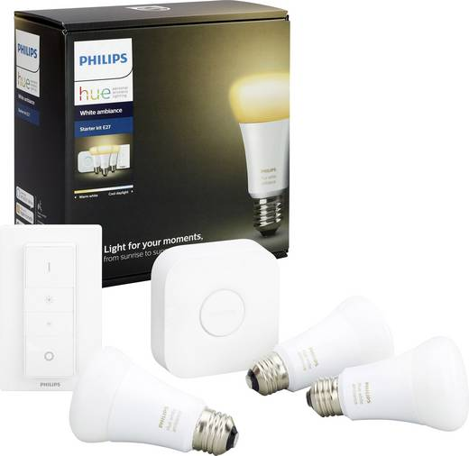 Philips Lighting Hue Starterkit white ambiance EEK: A+ (A++ - E) E27 9.5 W Warm-Weiß, Neutral-Weiß, Kalt-Weiß