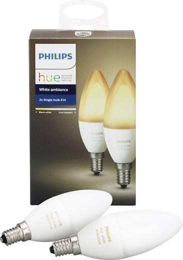 philips lighting hue led leuchtmittel 2er set white ambiance e14 warm wei neutral wei kalt. Black Bedroom Furniture Sets. Home Design Ideas