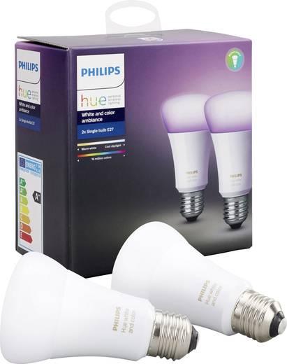 Philips Lighting Hue LED-Leuchtmittel (2er-Set) E27 RGBW