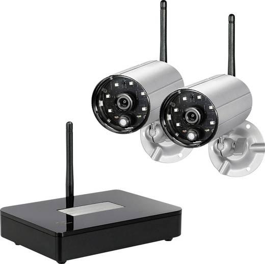 funk berwachungskamera set 4 kanal mit 2 kameras 2 4 ghz pentatech df400 27277. Black Bedroom Furniture Sets. Home Design Ideas