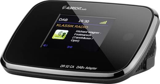 dab radio adapter albrecht dr 52 ca dab ukw schwarz kaufen. Black Bedroom Furniture Sets. Home Design Ideas