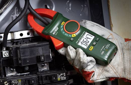Hand-Multimeter, Stromzange digital Extech MA443 Kalibriert nach: DAkkS CAT III 600 V Anzeige (Counts): 4000