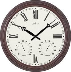 Vonkajšie nástenné hodiny s teplomerom a vlhkomerom Atlanta Uhren 4448, vonkajší Ø 300 mm, antická