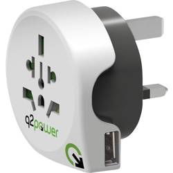 Cestovný adaptér Q2 Power World to Great Britain with USB 1.100130