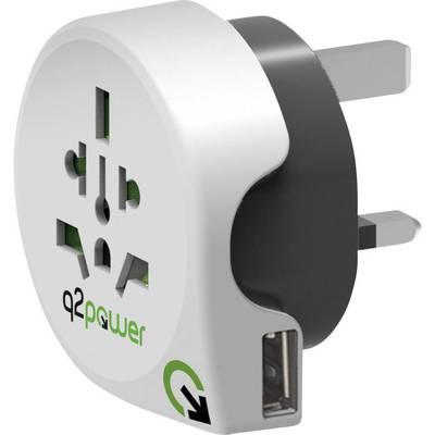 Q2 Power 1.100130 Reiseadapter World to Great Britain with USB Preisvergleich